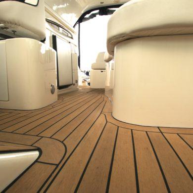 Miss Teek Elite synthetic teak boat deck replacement