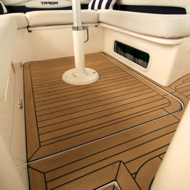 Miss Teek Elite synthetic teak boat floor replacement seating