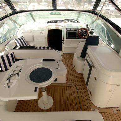 Miss Teek Elite synthetic teak boat floor replacement interior