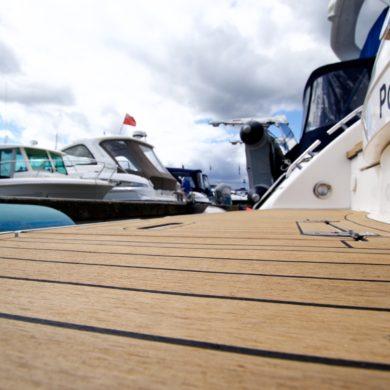 Miss Teek Elite synthetic teak boat floor replacement close up