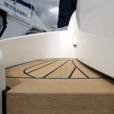 Miss Teek Elite synthetic teak boat floor replacement