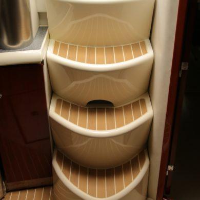 Miss Teek Elite synthetic teak boat floor replacement steps